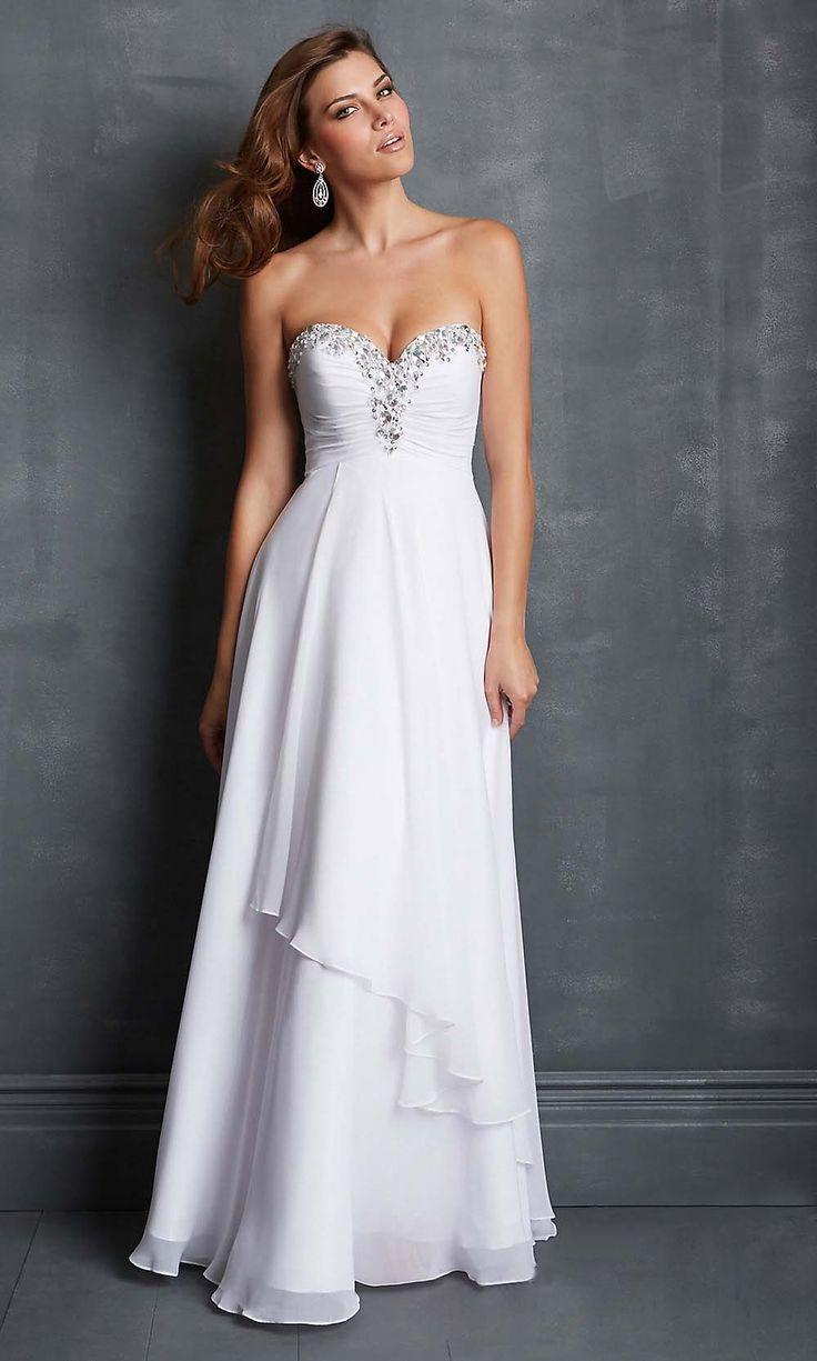 empire prom dresses, chiffon prom dress, cheap prom dresses, long prom dress, white prom dress, evening dresses