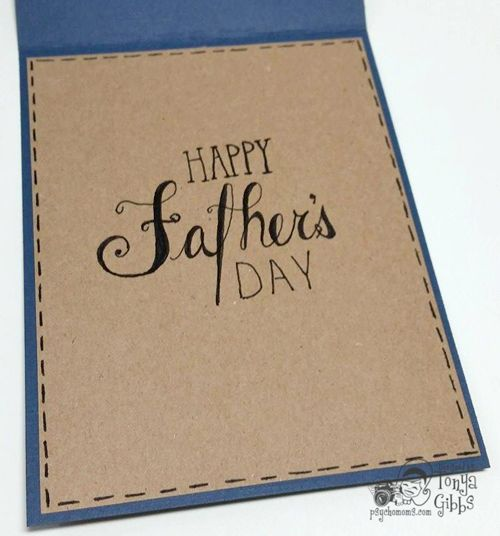 Psycho Moms Scrapbooks: Father's Day Card for Die-namites June Sketch and Dare Challenge