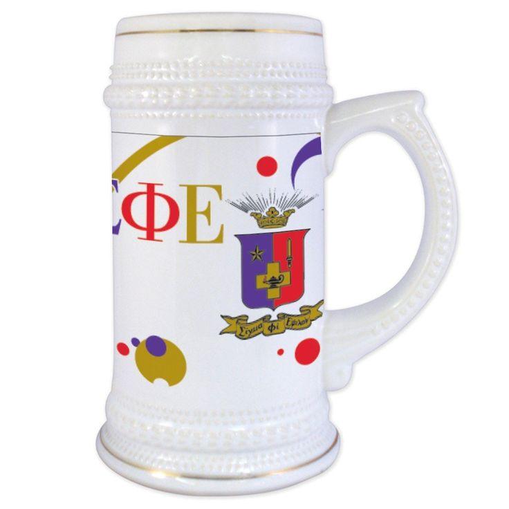 Sigma Phi Epsilon 22 oz. Ceramic Beverage Stein - Crest and Bubbles