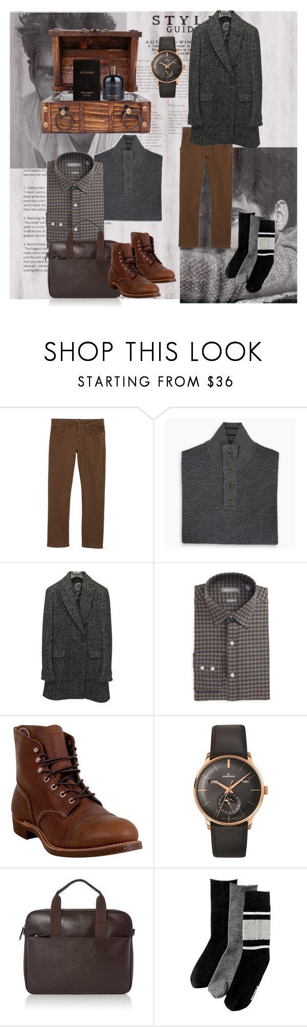 """Intenso"" by wave-babe ❤ liked on Polyvore featuring 34 Heritage, Dapper Fox, Etro, Michael Bastian, Red Wing, Longines, Ted Baker, Richer Poorer, Dolce&Gabbana and men's fashion"