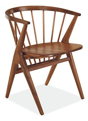 Soren Chairs with Wood Seat - Cushion Separate