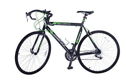 Merax 21-Speed 700C Aluminum Road Bike Racing Bicycle, 50CM Green