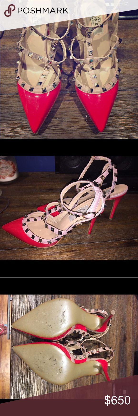 Valentino Rockstud Pumps Red Valentino Rockstud Pumps. Worn twice. Valentino Shoes Heels