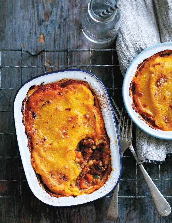 Shepherd's pie with parsnip and pumpkin topping p.164 | Thermomix cookbook | Something for Everyone