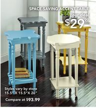 Space-Saving Accent Table from Tuesday Morning $29.99