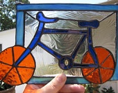 Bicycle - Stained Glass Panel