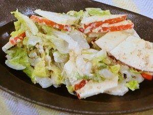 Mayo Ginger sesame dressing - Hakusai Apple quick salad 白菜とりんごのサラダ ごま風味    2017年12月6日 [NHKあさイチ]