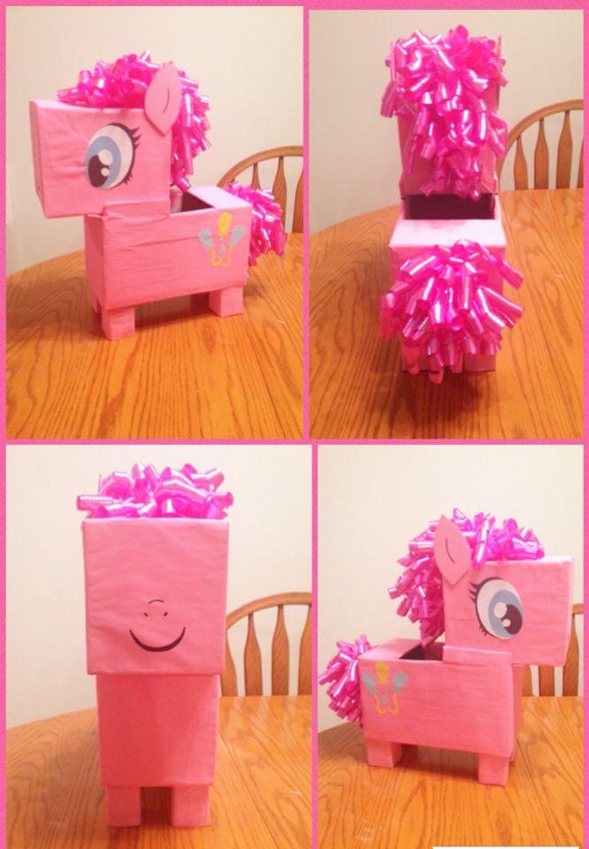 Our Pinkie Pie My Little Pony Valentine's Box #PinkiePie #2016 made by Sara Hunsaker #diy Valentine Day