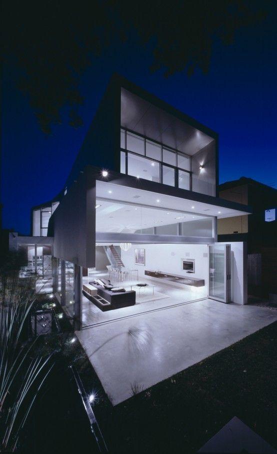 Casa moderna y minimalista 1 arquitectura pinterest for Arquitectura moderna minimalista
