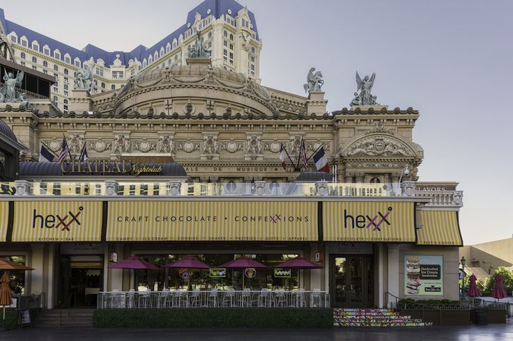Great brunch, cuisine and cocktails. Free tours at HEXX chocolate & confexxions restaurant located Paris Casino in Las Vegas