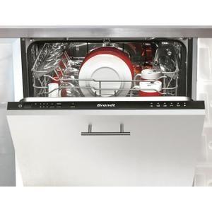 BRANDT VH1472J - Lave-vaisselle tout intégrable - 12 couverts - 47dB - A+ - Larg. 60cm