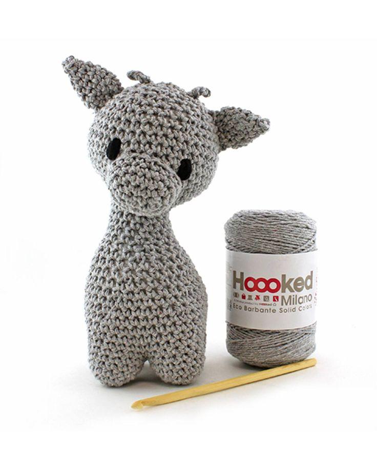 Ziggy Giraffe (grey) amigurumi crochet kit