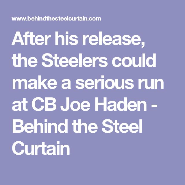After his release, the Steelers could make a serious run at CB Joe Haden - Behind the Steel Curtain