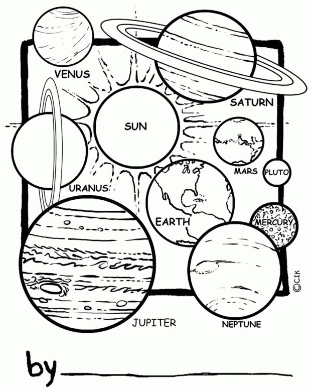 Solar System Coloring Pages To Print