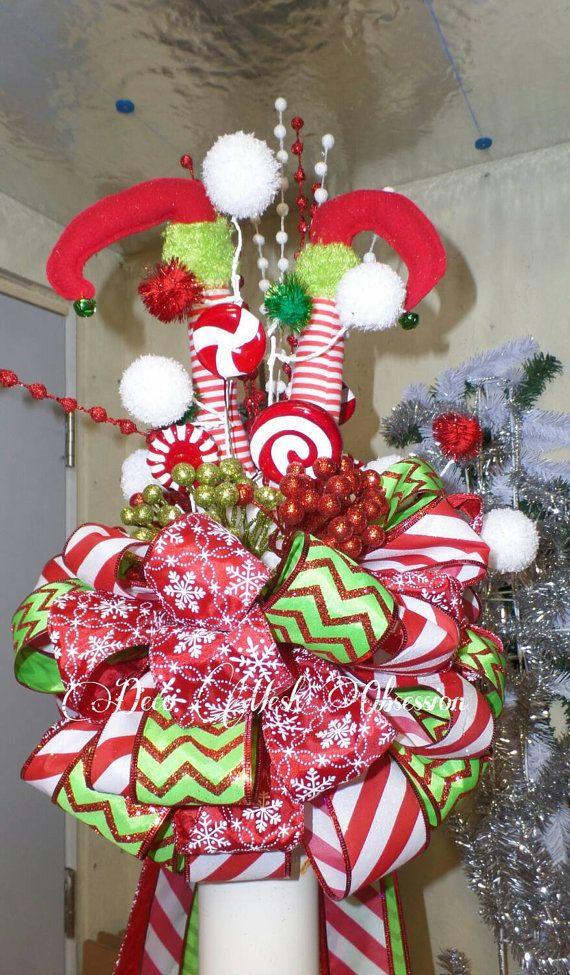Elf Legs Christmas Tree Topper