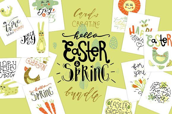Easter & Spring creative collection by Creativemaker on @creativemarket