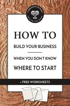 "Do you have so many business ideas that you just don't know where to start? Do you look around at blogs, ETSY shops, or other small businesses and think to yourself, ""I can do that."" Well, guess what? You can! Download your free worksheets to get started!"