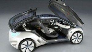 Sitema de puertas y vista interior del carro eléctrico Renault Zoe ZE