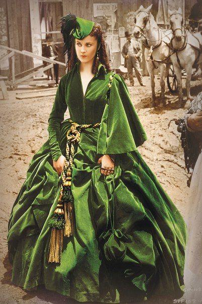 Шикарные платья Вивьен Ли в фильме «Унесенные ветром» 1939 года