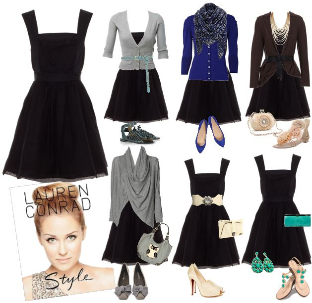 Lauren Conrad Style Inspired Little Black Dress Board One
