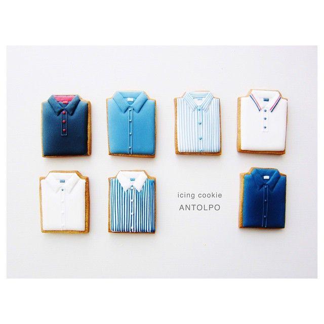 Instagram media by antolpo - Shirtsアイシングクッキー #icingcookies #アイシングクッキー #クッキー #cookies #decoratedcookies #sugarcookies #sweets