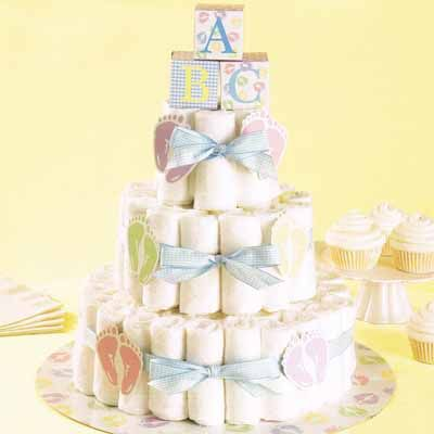 Diaper Cake Kit -- a unique option for neutral, boy or girl baby shower