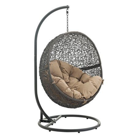 Modway Hide Outdoor Patio Swing Chair, Multiple Colors Available, Brown