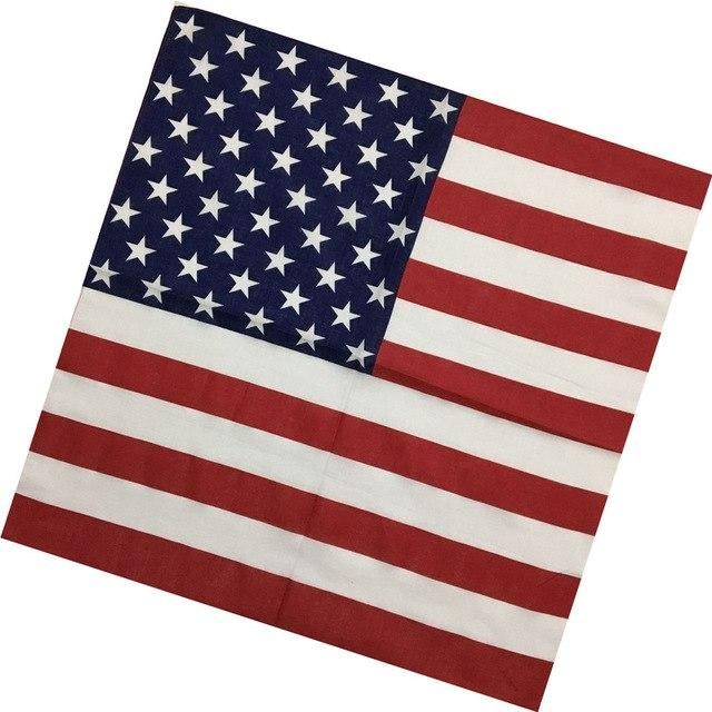 11 Styles Unisex Flags Printed Cotton Paisley Bandana Flag Kerchief Camouflage Double Side Head Wrap Scarf Wristband Headwear   – Products