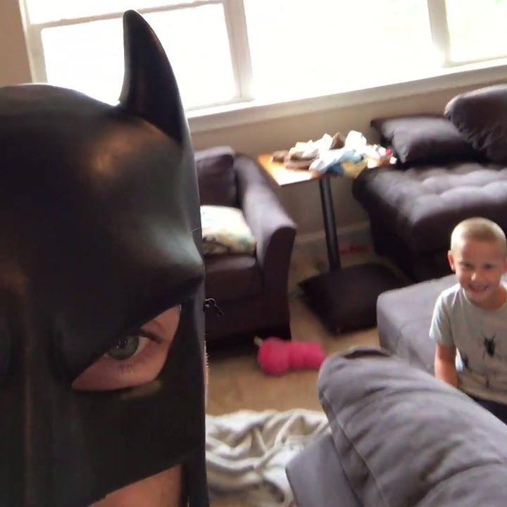 When your dad is Batman... 🦇  Batdad