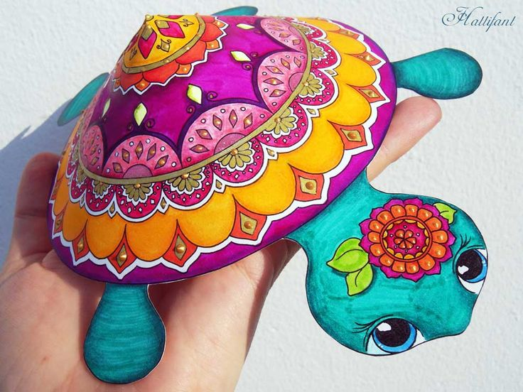 A Mandala Turtle for you to color and craft or you may choose the colored version to craft your own Mandala Turtle. They are a rare species! Find them here!