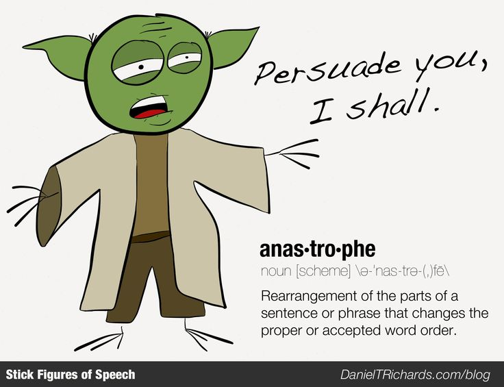 Yoda Stick Figure of Speech: Anastrophe