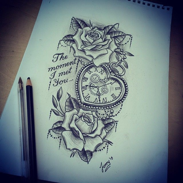 Heart pocket watch and roses design.. #heartpocketwatch #pocketwatch #pocketwatchtattoo #pocketwatchtattoos #rosetattoo #rosetattoodesign #roseandpocketwatch #atlanticcoasttattoo