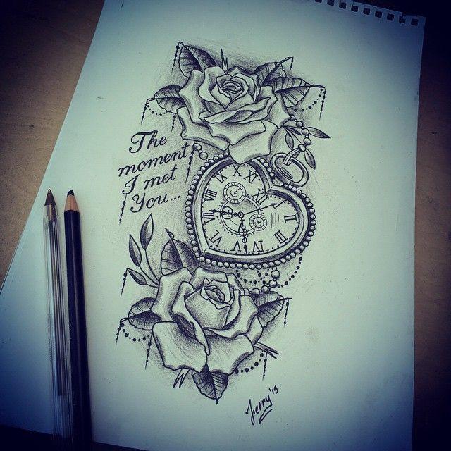 Heart pocket watch and roses design.. #heartpocketwatch #pocketwatch #pocketwatchtattoo #pocketwatchtattoos #rosetattoo #rosetattoodesign #roseandpocketwatch #atlanticcoasttattoo