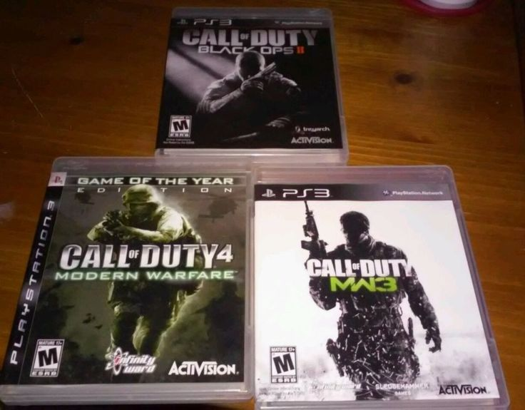 Lot of 3 call of duty ps3 games black ops, modern warfare mw3