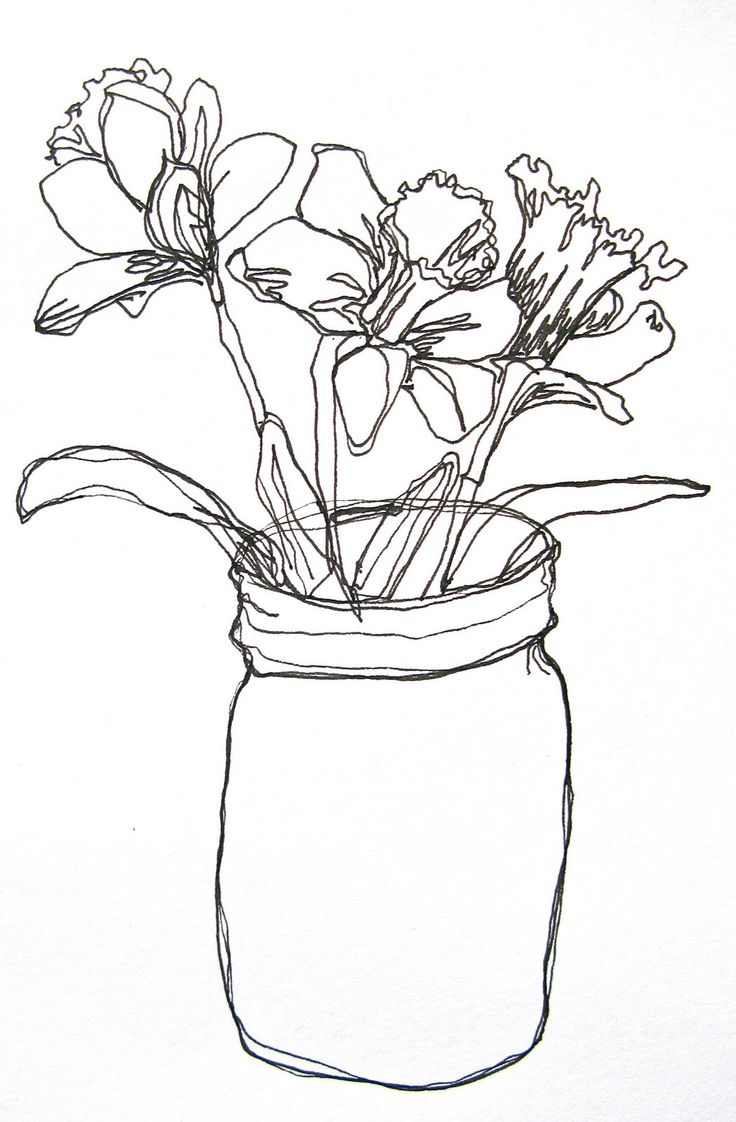 Continuous Line Drawing Easy : Best ideas about flower line drawings on pinterest