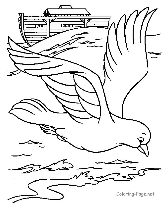 bible coloring page dove and ark