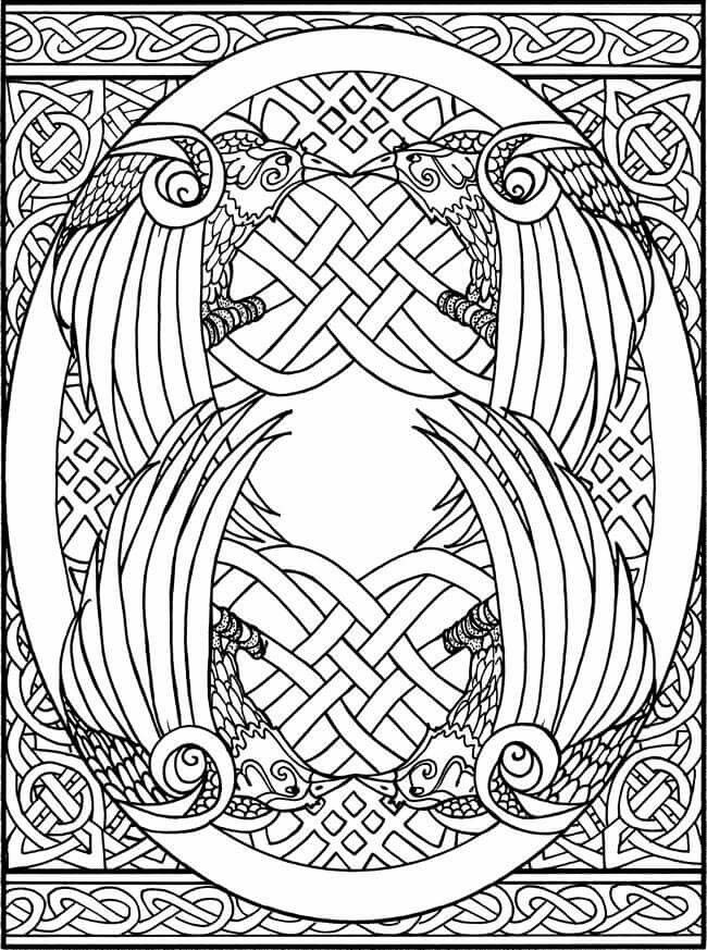creative haven - Celtic Coloring Pages For Adults