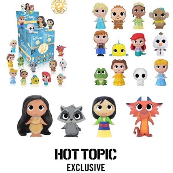 Disney Princess Mystery Mini figures by Funko, Hot Topic assortment