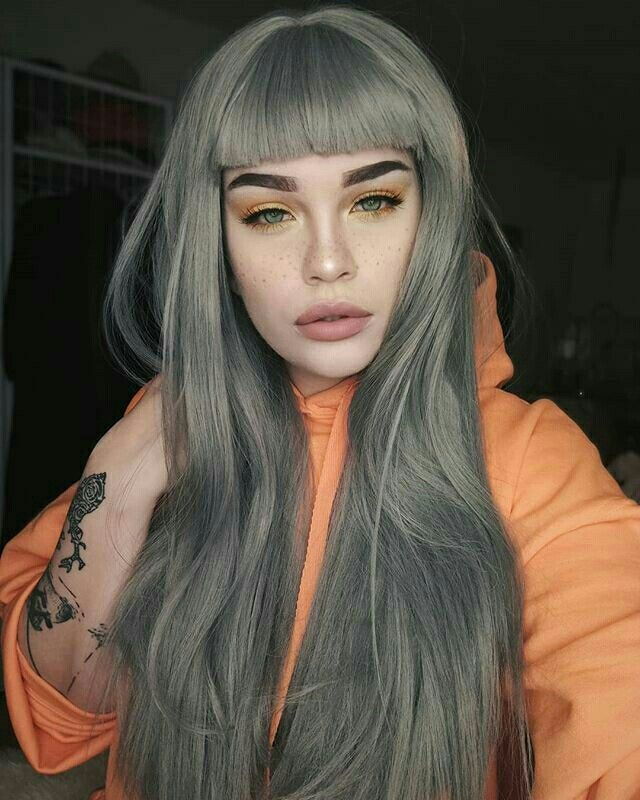 Pinterest Iiiannaiii White Hair Color Green Hair Dye Grey
