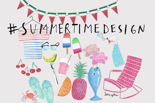 Summertime design per Grazia.it by Sara Gorini