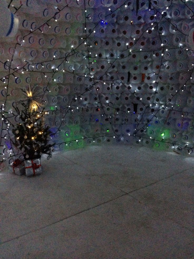 Classroom Window Ideas ~ Inside the milk bottle igloo jugs christmas