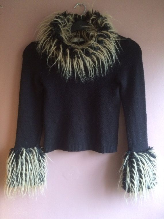 Vintage Rare Club/Rave sweater 90's Miss Money by ShellysRelics