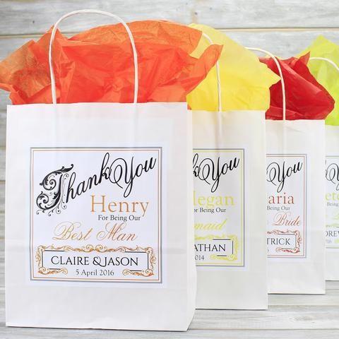 Wedding Favour Bag - Personalised Wedding Favour Gift Bag - Bridesmaid, Usher…