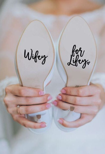 Wifey for Lifey Wedding Heels Shoes Decal