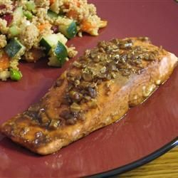 Salmon fillets with Marmite & sweet chilli recipe from Waitrose...