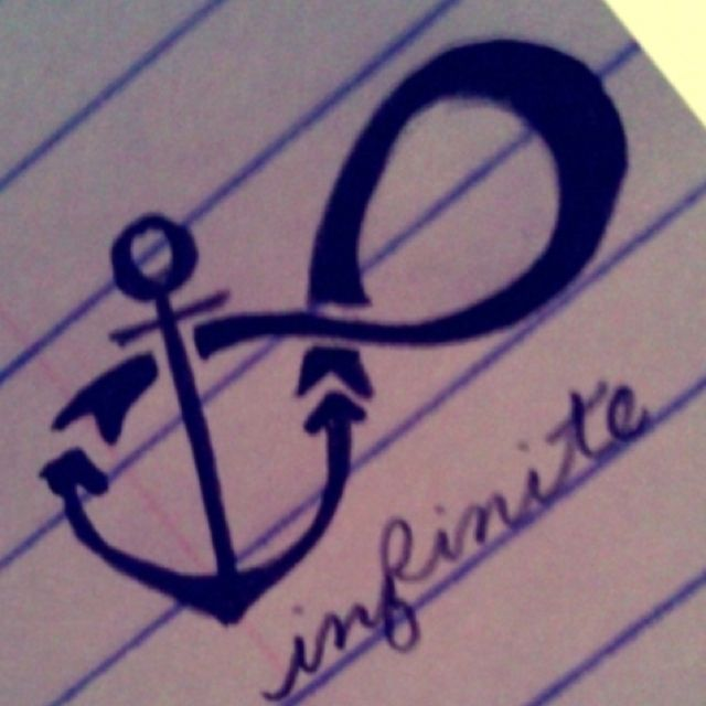 Anchor with Infinity Symbol Tattoo