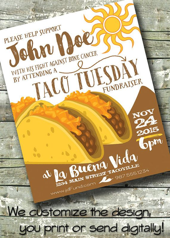 Lunch Truck For Sale >> TACO TUESDAY ~ Restaurant Ad ~ Menu ~ Fundraiser ~ 5x7 ...