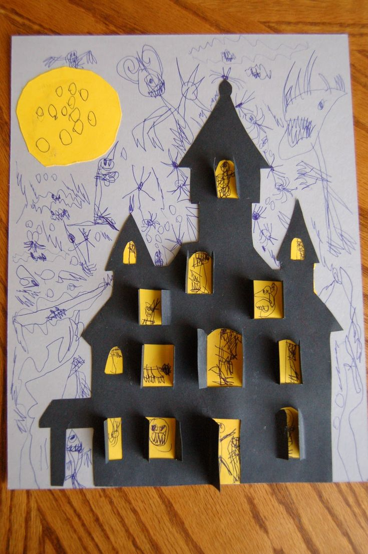 I HEART CRAFTY THINGS: When Life gets in the way of crafting....And a cute Haunted House Picture Craft