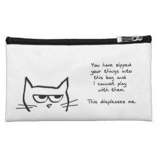 I like the the text that crafted on this cosmetic bag, it was really funny to me.
