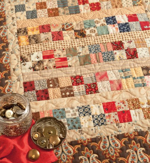 Tiny tiny quilt squares from Lily Pad Quilting: Civil Wars, Civil War Quilts Patterns, Scrap Quilts, Quilts Inspiration, Quilts Blocks, Brass Buttons, War Legacy, War Prints, Legacy Prints